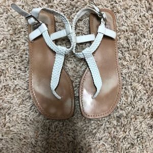 Gianni Bini White Sandals Size 7
